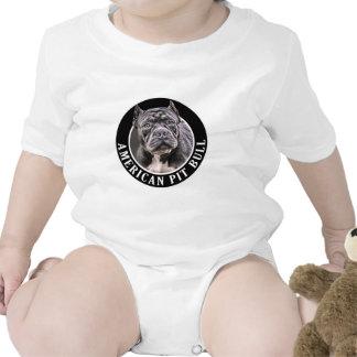 American Pit Bull 002 Baby Bodysuits