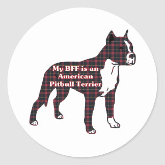American Pit Bull Terrier BFF Sticker