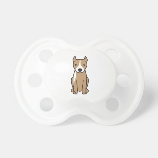 American Pit Bull Terrier (Cropped Ears) Pacifier