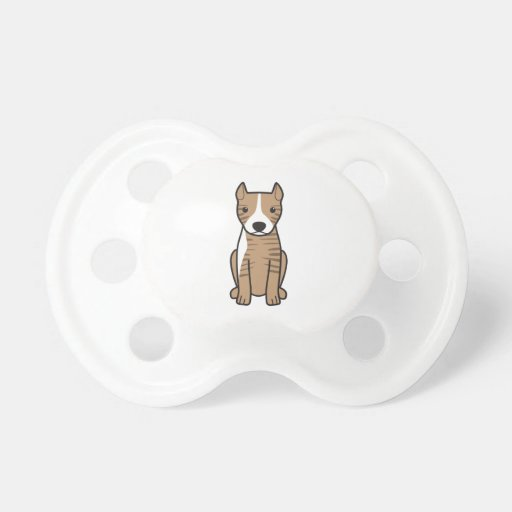 American Pit Bull Terrier (Cropped Ears) Pacifiers