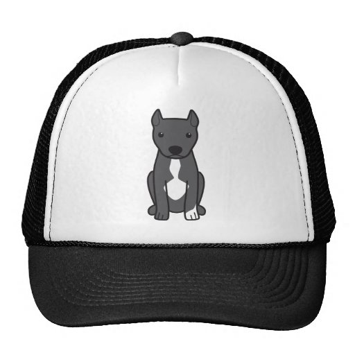 American Pit Bull Terrier (Cropped Ears) Mesh Hats