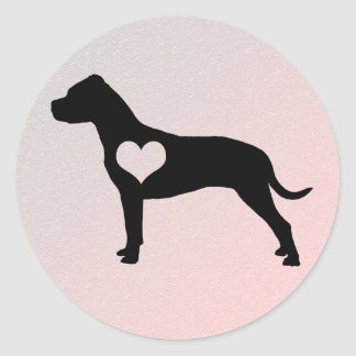 American Pit Bull Terrier Heart Stickers