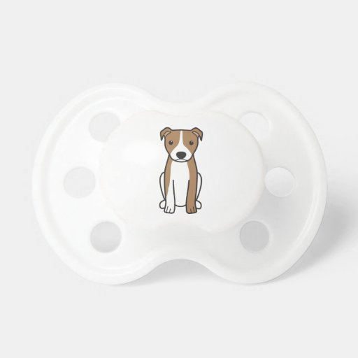 American Pit Bull Terrier (Natural Ears) Baby Pacifiers