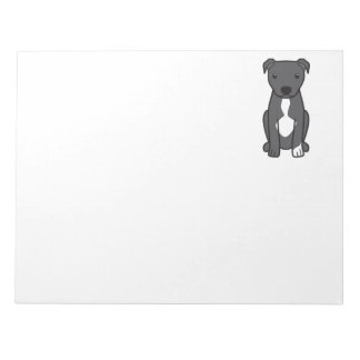 American Pit Bull Terrier (Natural Ears) Notepad