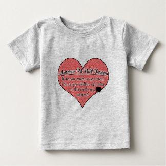 American Pit Bull Terrier Paw Prints Dog Humor Infant T-Shirt