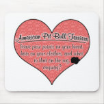 American Pit Bull Terrier Paw Prints Dog Humour Mousepads
