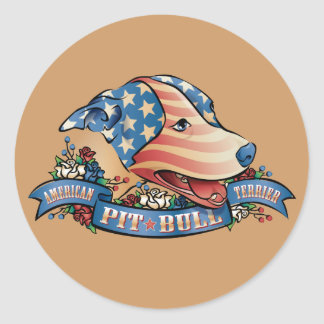American Pit Bull Terrier Round Sticker