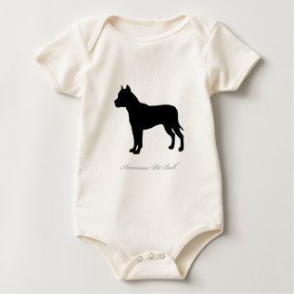 American Pit Bull Terrier silhouette Baby Creeper