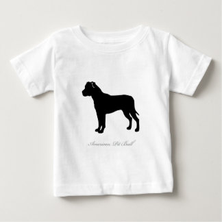 American Pit Bull Terrier silhouette Baby T-Shirt