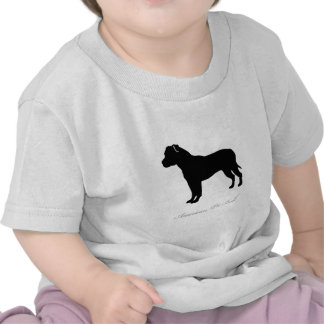 American Pit Bull Terrier silhouette Shirts