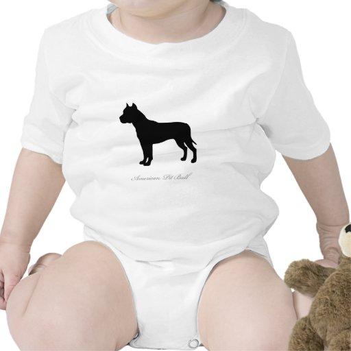 American Pit Bull Terrier silhouette Creeper