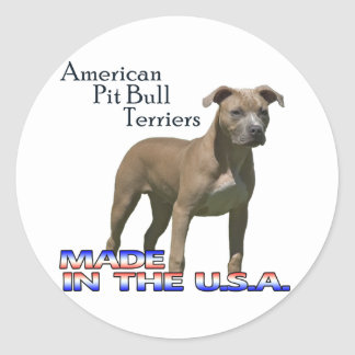 American Pit Bull Terriers : Small Stickers