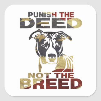 AMERICAN PITBULL AF3 PUNISH THE DEED SQUARE STICKER