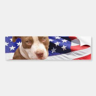 American Pitbull puppy Bumper Sticker
