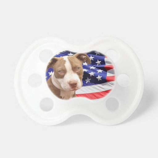 American Pitbull Terrier pup Baby Pacifiers