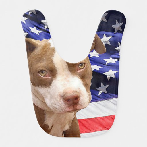 American Pitbull Terrier pup Bibs