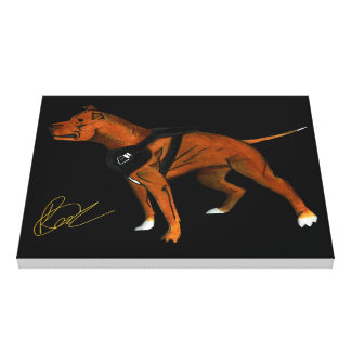 American Pitbull Terrier Room, Office Canvas