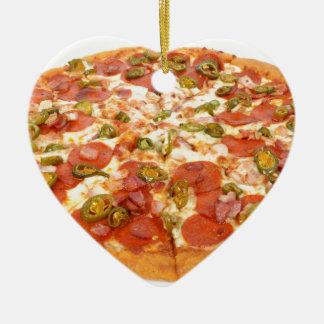 American pizza ceramic heart decoration
