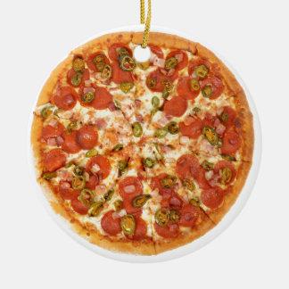 American pizza round ceramic decoration