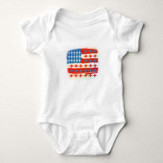 American Planes Baby Bodysuit