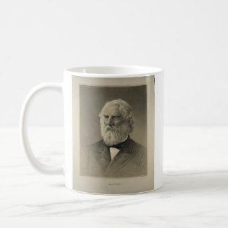 American Poet Henry Wadsworth Longfellow Portrait Basic White Mug