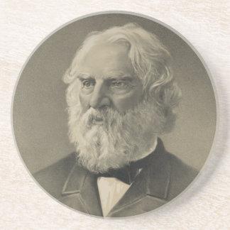 American Poet Henry Wadsworth Longfellow Portrait Coaster