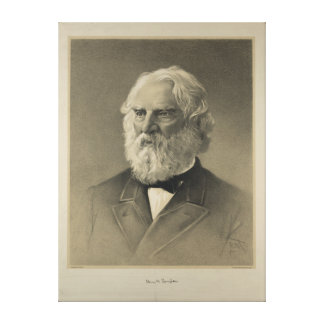 American Poet Henry Wadsworth Longfellow Portrait Gallery Wrap Canvas