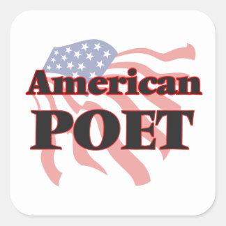 American Poet Square Sticker