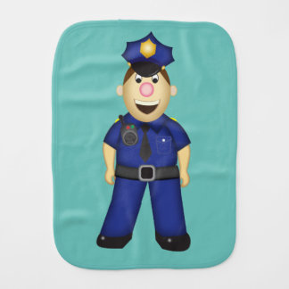 American Police Officer Burp Cloth