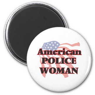 American Police Woman 6 Cm Round Magnet