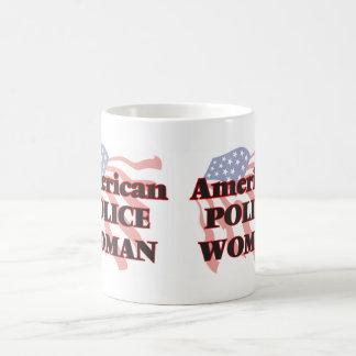 American Police Woman Basic White Mug