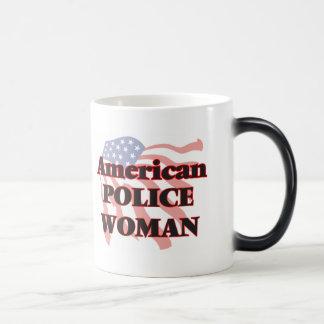 American Police Woman Morphing Mug
