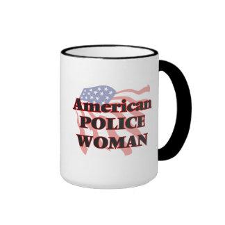 American Police Woman Ringer Mug