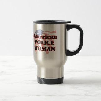American Police Woman Stainless Steel Travel Mug