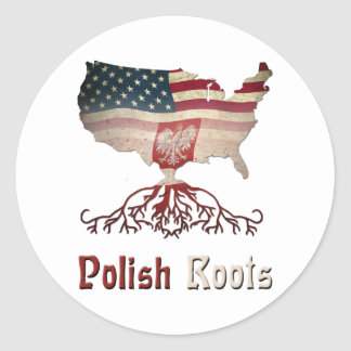 American Polish Roots Classic Round Sticker