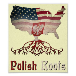 American Polish Roots Poster