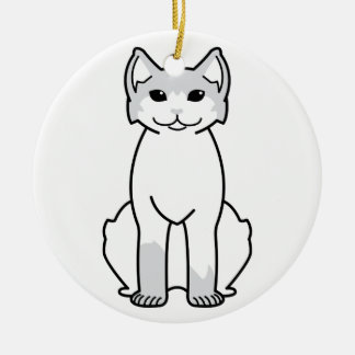 American Polydactyl Cat Cartoon Christmas Ornament