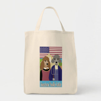 American Poodle Gothic Tote Canvas Bag