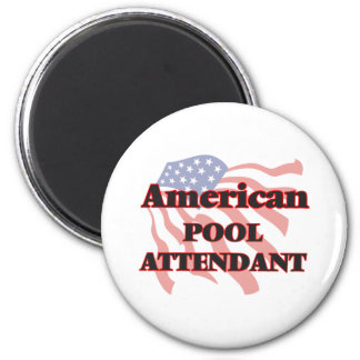 American Pool Attendant 6 Cm Round Magnet