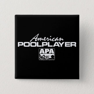 American Pool Player 15 Cm Square Badge