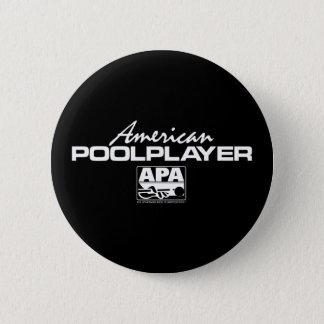 American Pool Player 6 Cm Round Badge