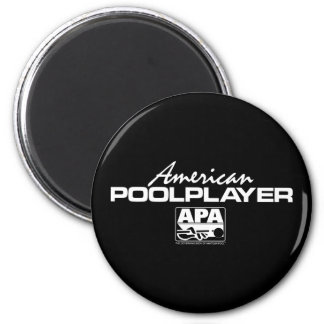 American Pool Player 6 Cm Round Magnet