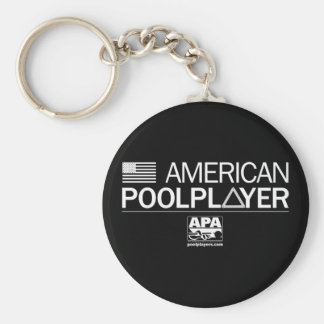 American Pool Player Basic Round Button Key Ring
