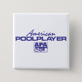 American Pool Player - Blue 15 Cm Square Badge