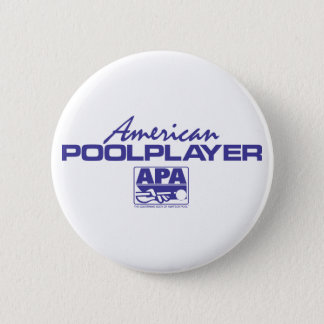 American Pool Player - Blue 6 Cm Round Badge