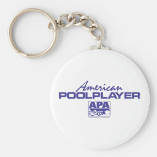 American Pool Player - Blue Basic Round Button Key Ring