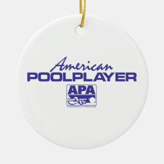 American Pool Player - Blue Christmas Ornament