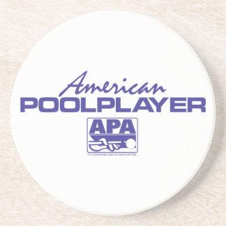 American Pool Player - Blue Coaster