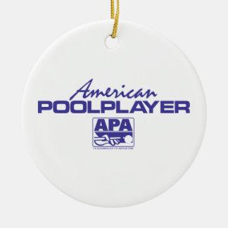 American Pool Player - Blue Christmas Tree Ornament