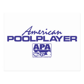 American Pool Player - Blue Postcard